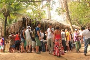 O movimento no Quilombo Rio dos Macacos